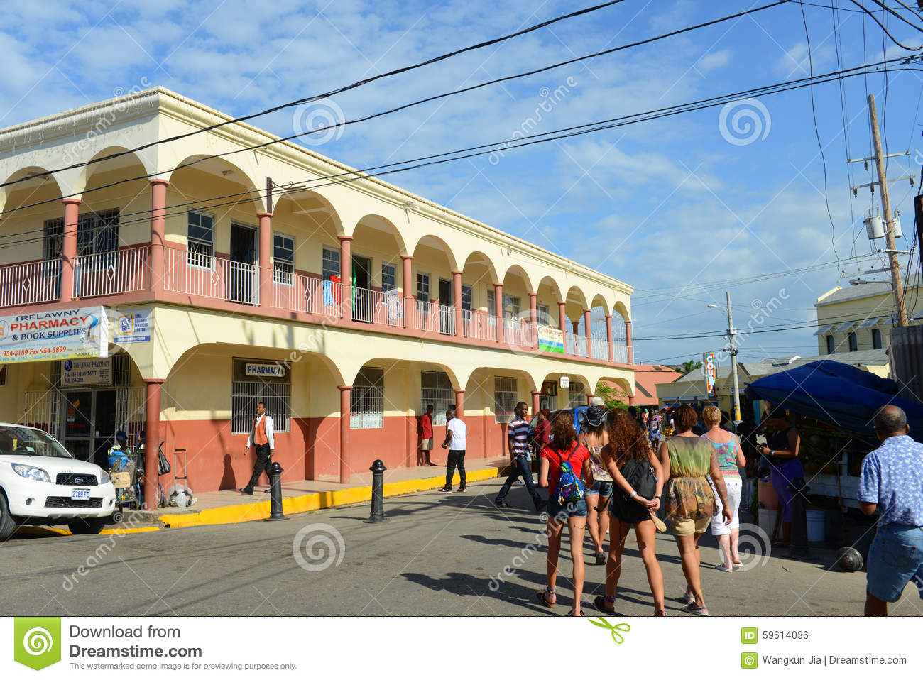 Falmouth Downtown Jamaica Editorial Photo Image 59614036