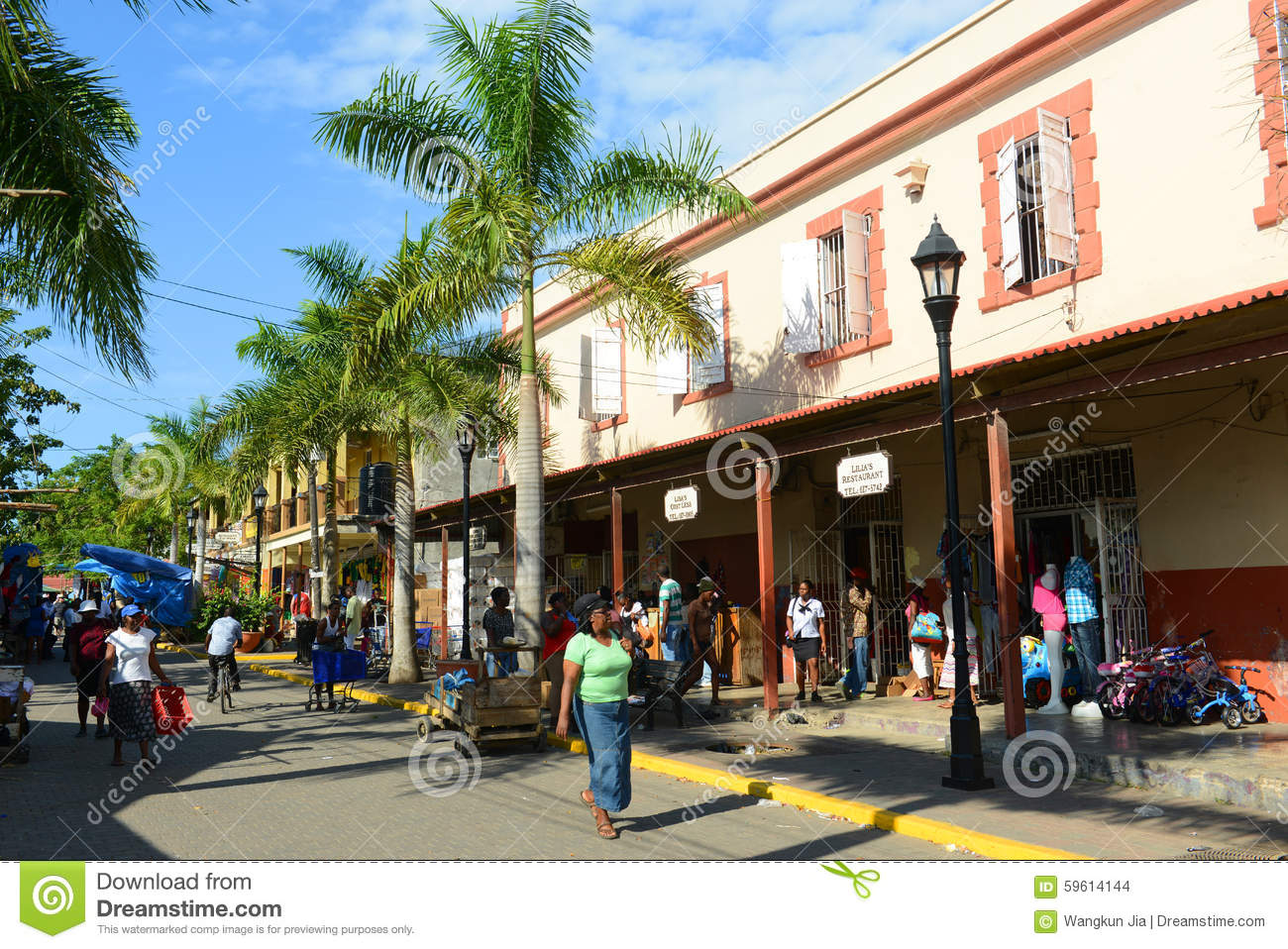 Falmouth downtown jamaica editorial stock image image of for Cost of building a house in jamaica