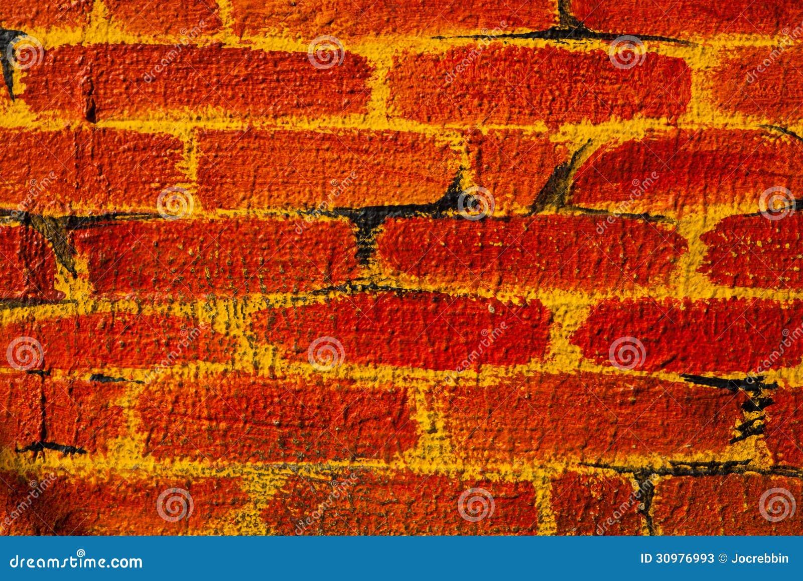 Falsa pared de ladrillo pintada fotos de archivo imagen for Pared de ladrillos falsa
