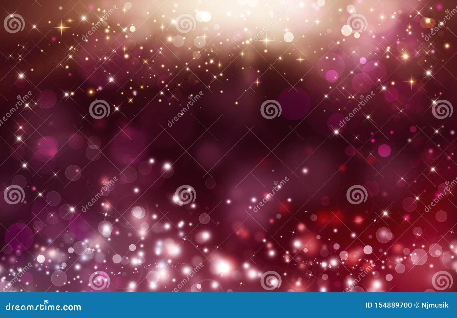 Falta de definición rosada abstracta del fondo del bokeh Ejemplo festivo brillante