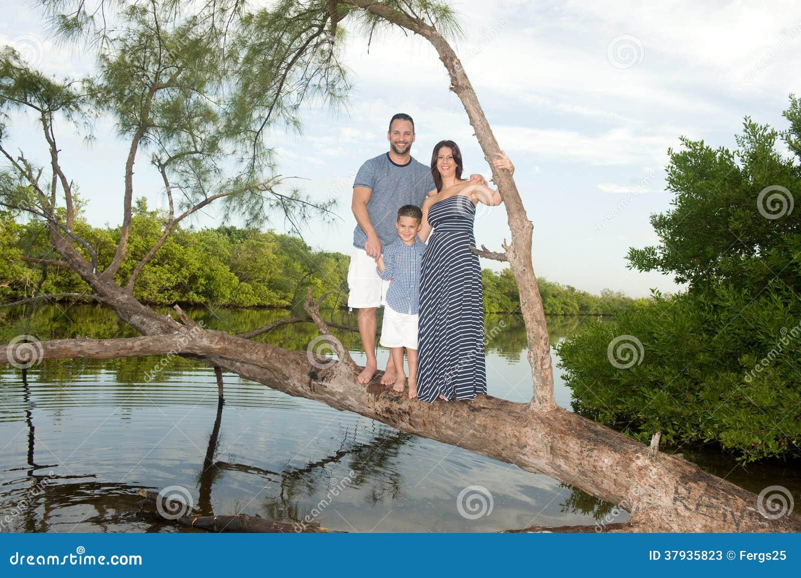 Família bonita fora