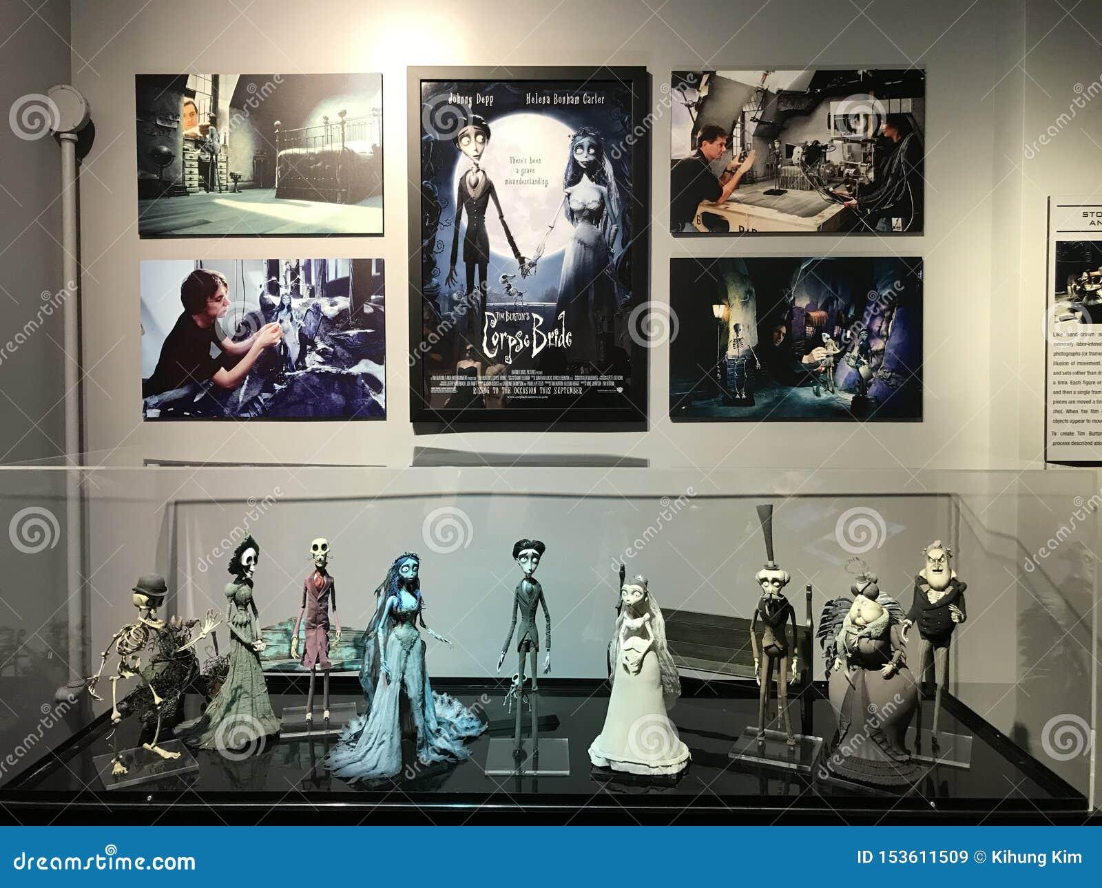 Família de Tim Button em Warner Brothers Studio no LA
