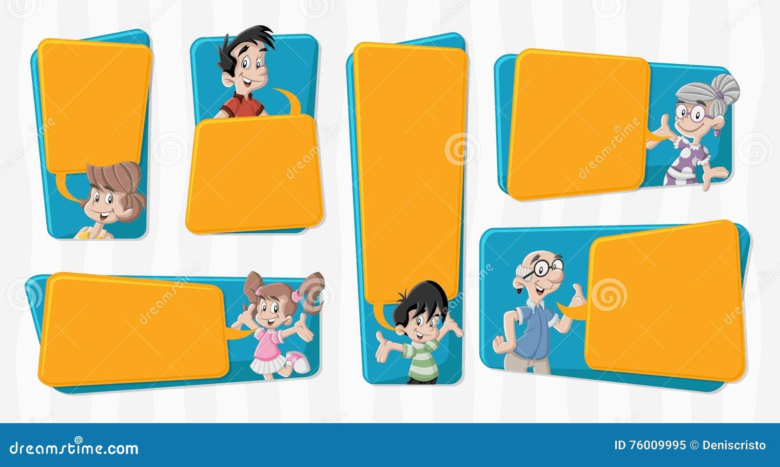 Família dos desenhos animados