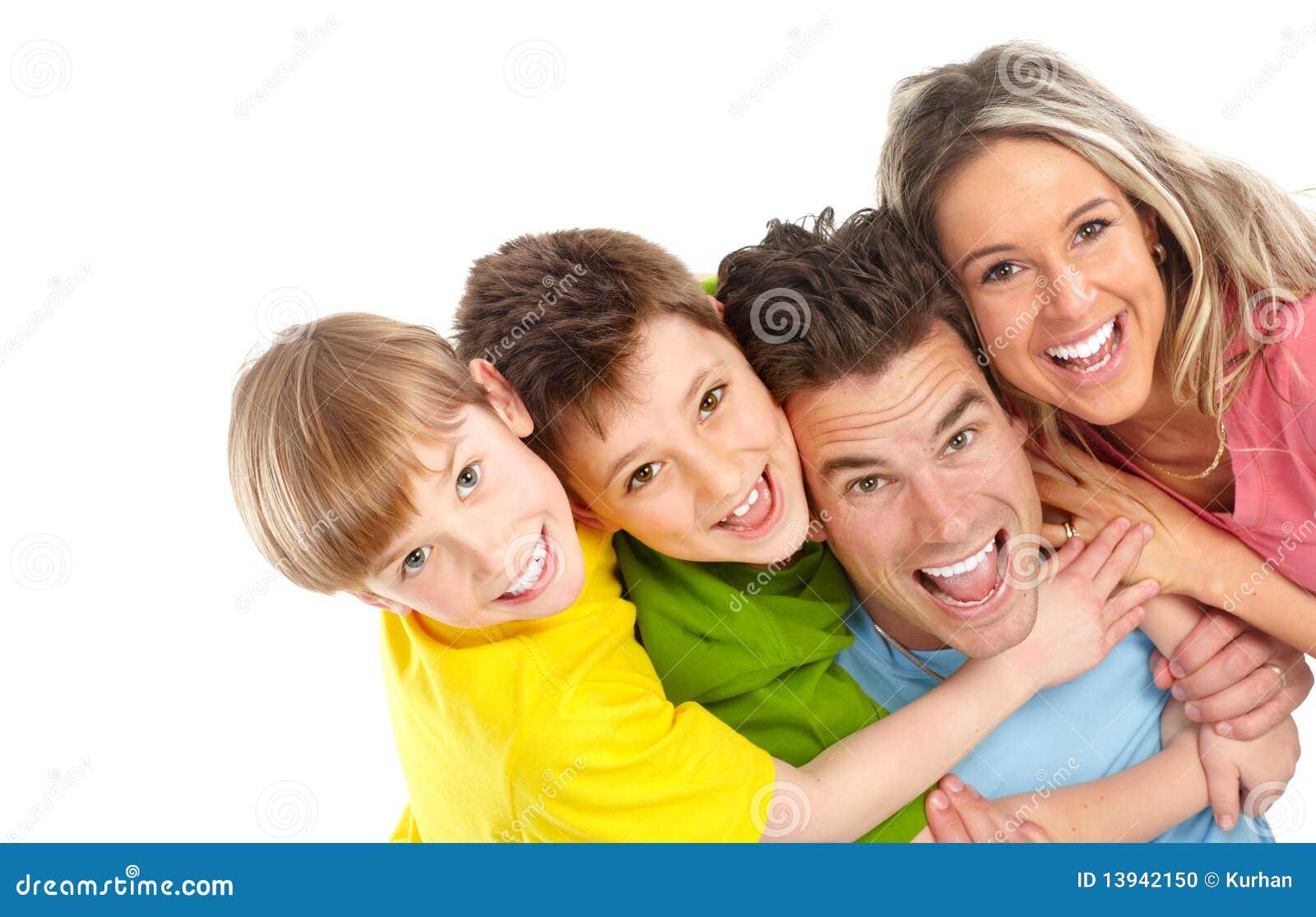 Família feliz foto de stock. Imagem de infante, criança ...