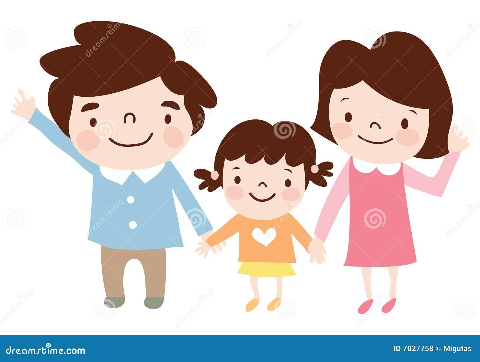 Família Feliz Ilustração Do Vetor Ilustração De Ilustração 7027758
