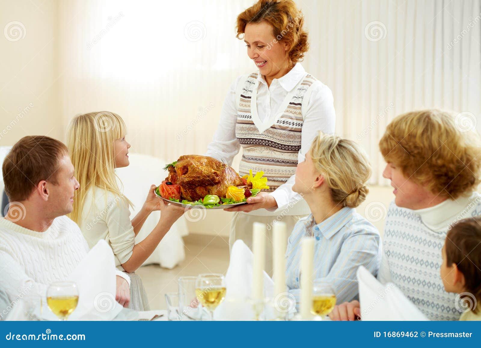 Família no jantar