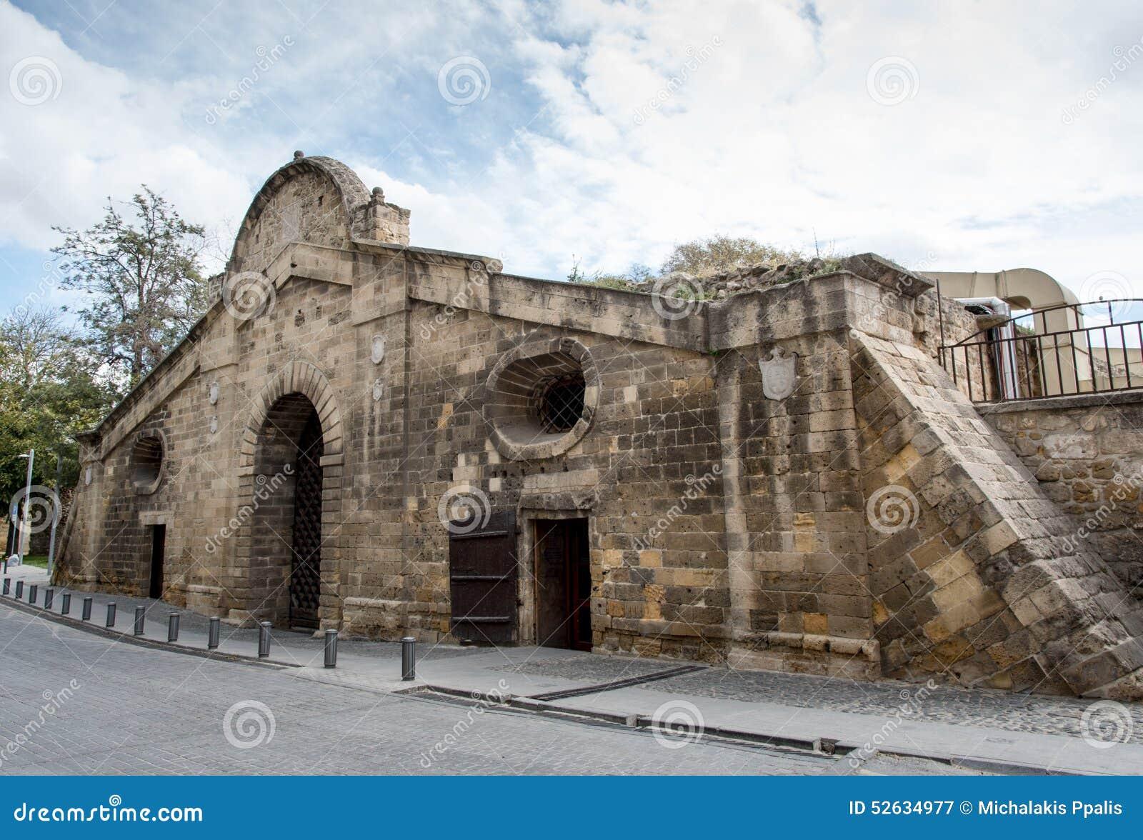 Famagustapoort historisch de bouworiëntatiepunt, Nicosia Cyprus