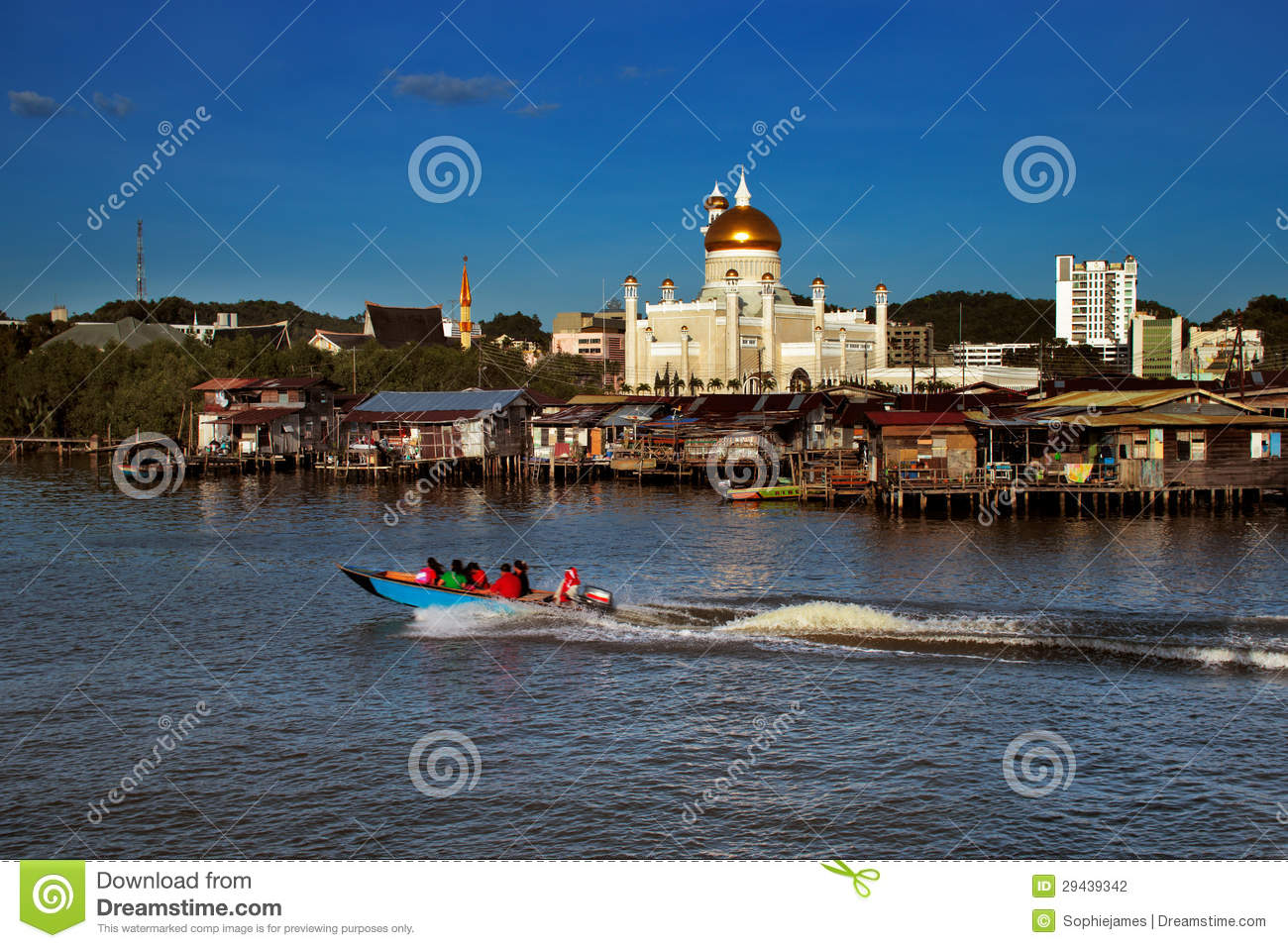 Famed Water Village Of Brunei's Capital City Stock Photo