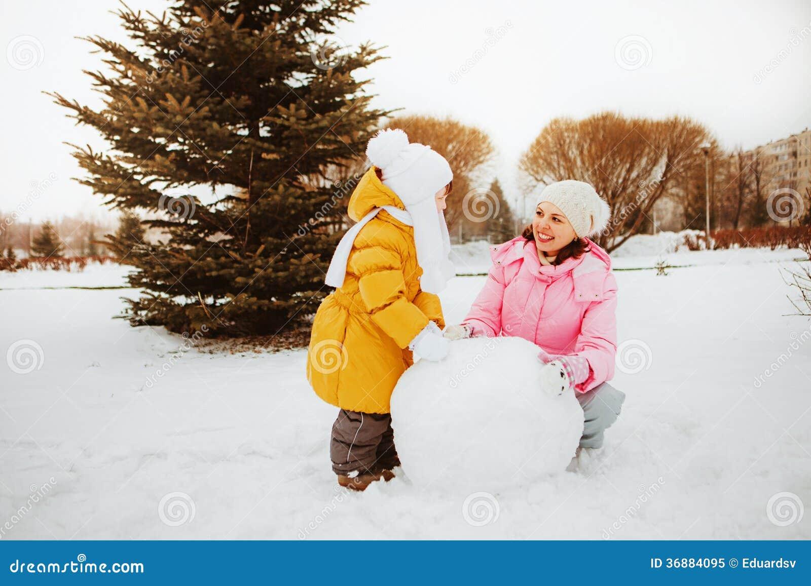 Download Famiglia. immagine stock. Immagine di gioia, snowman - 36884095