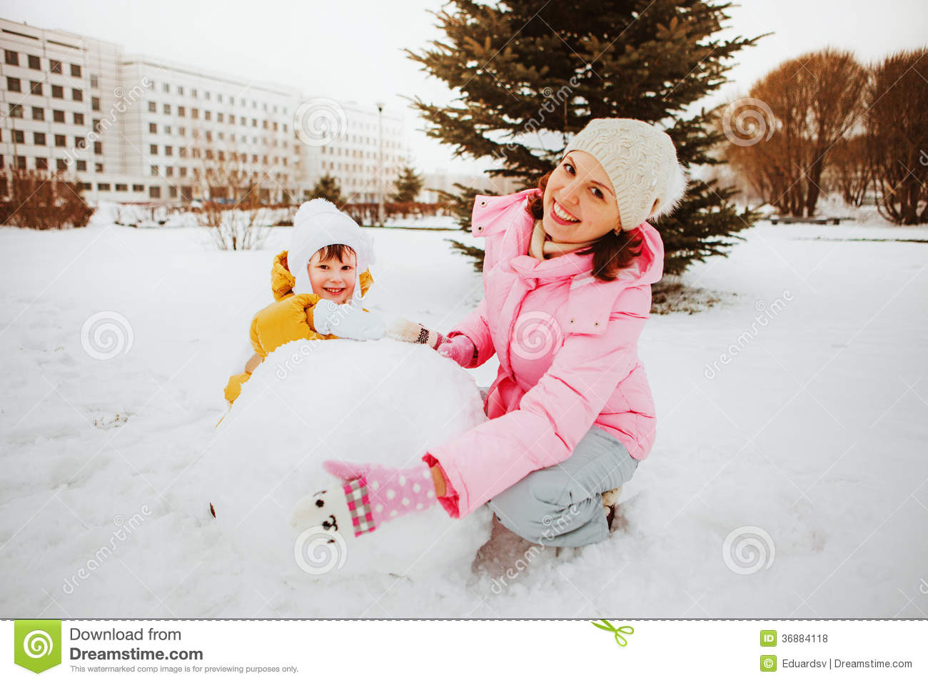 Download Famiglia. fotografia stock. Immagine di neve, poco, togetherness - 36884118