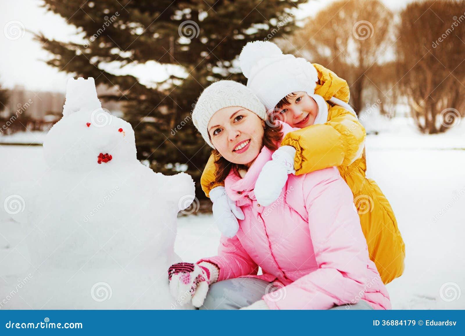Download Famiglia. immagine stock. Immagine di inverno, sorridere - 36884179