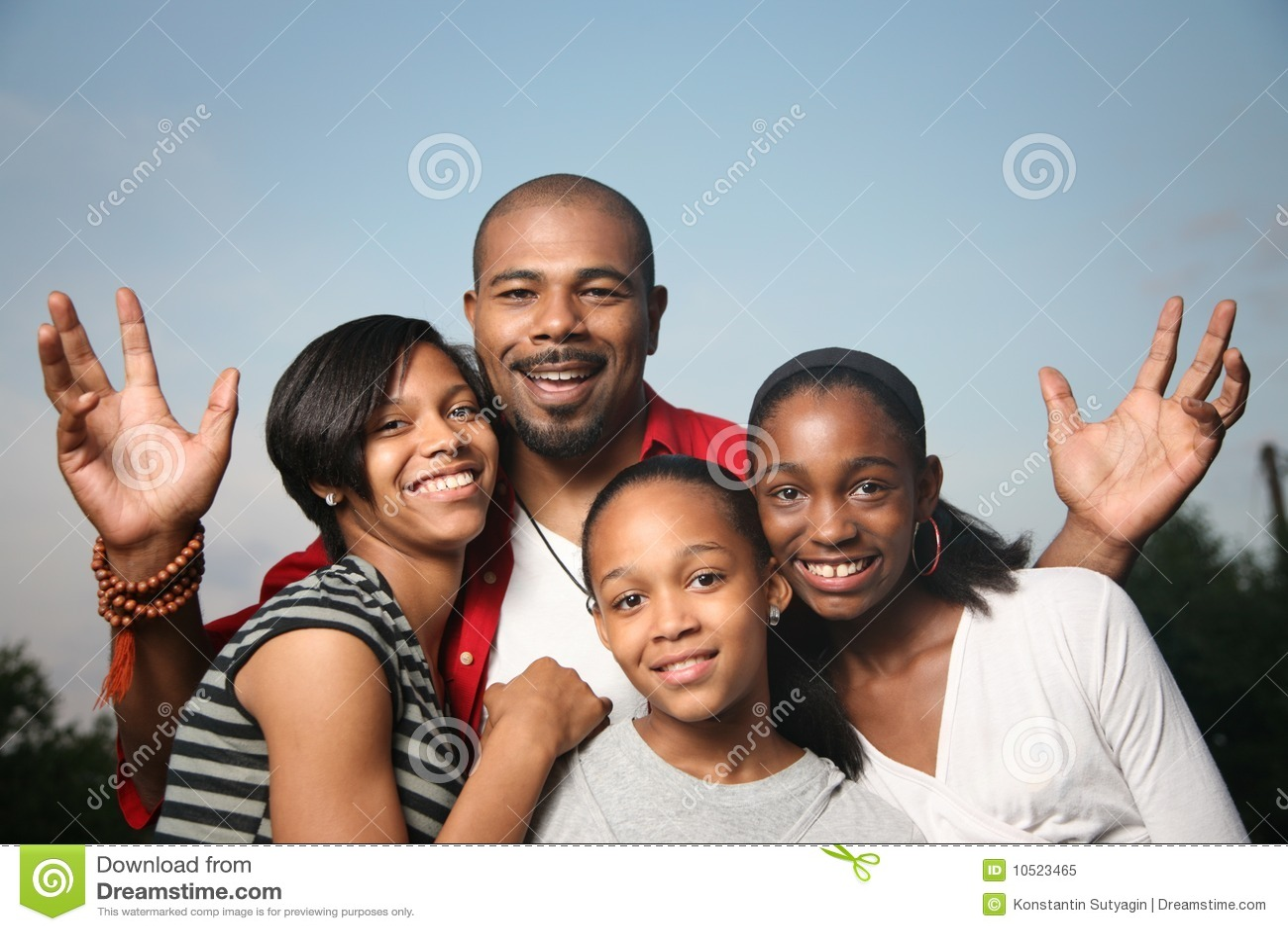 Famiglia dell afroamericano