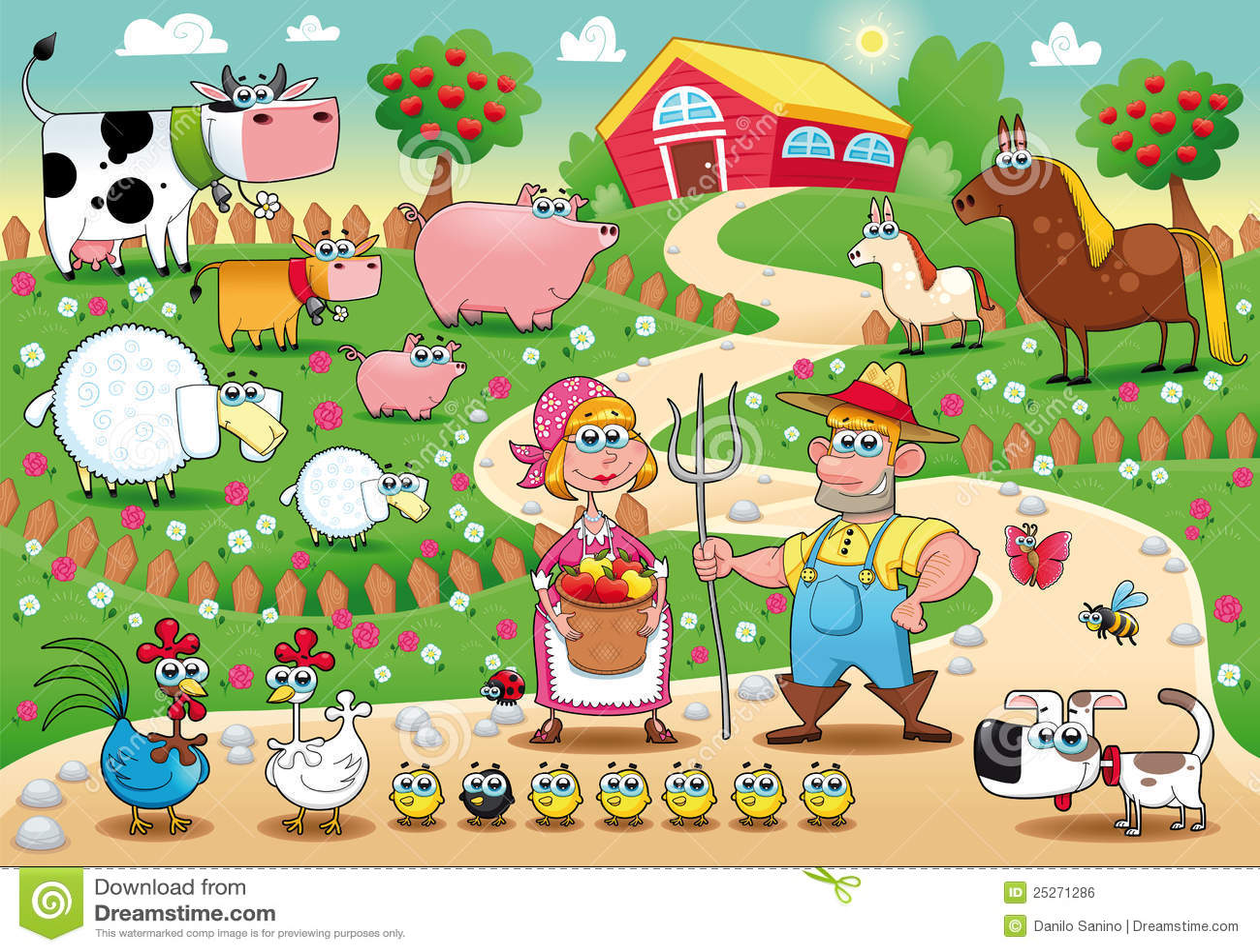 Famiglia dell azienda agricola.
