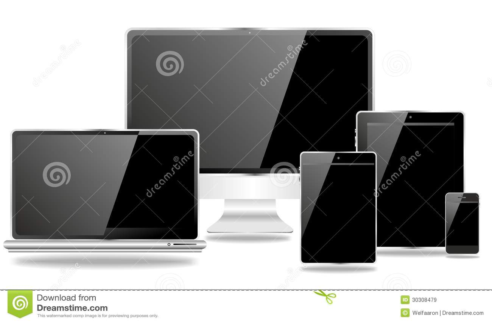 Famiglia dell edizione nera dei dispositivi di comunicazione
