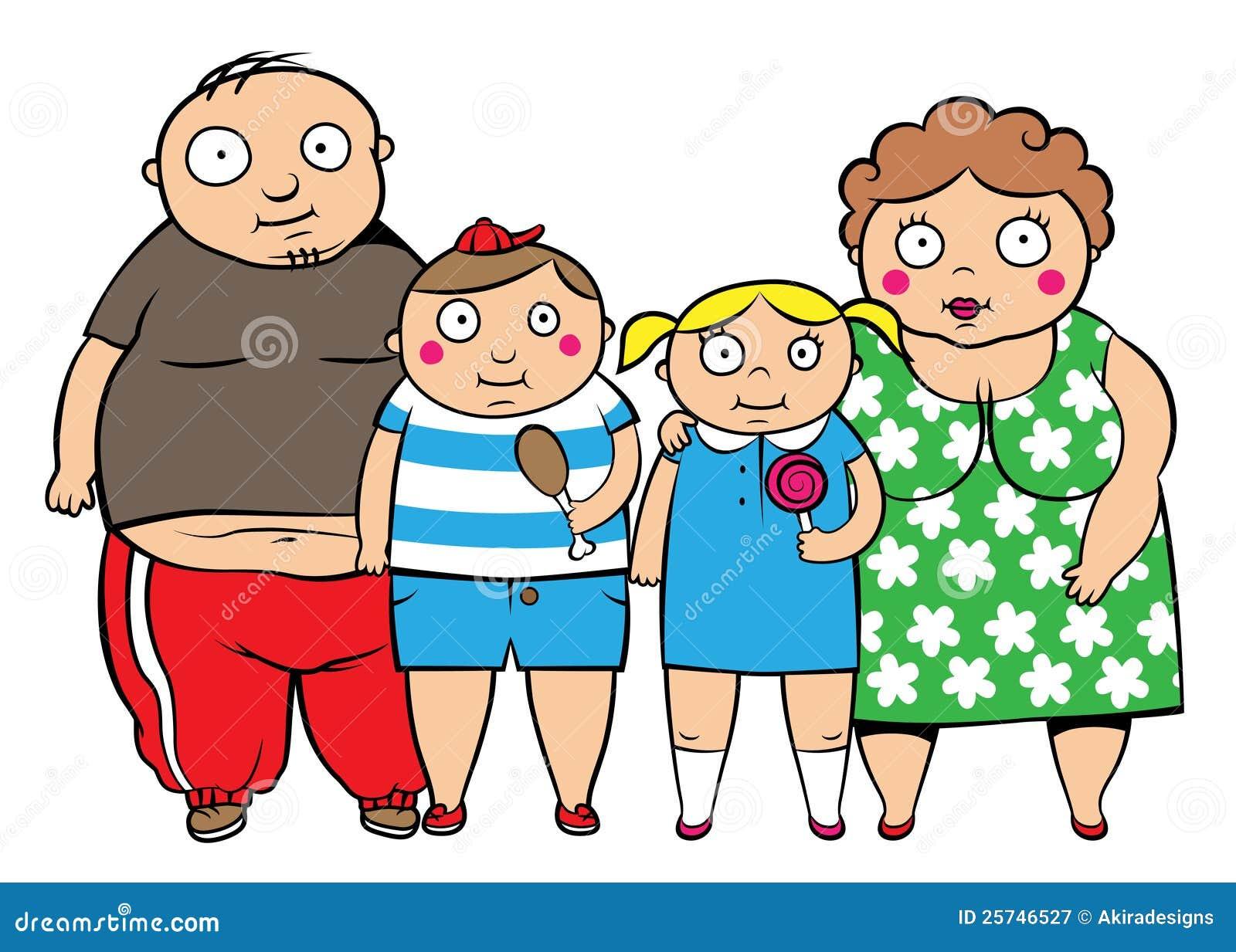 Famiglia di peso eccessivo grassa