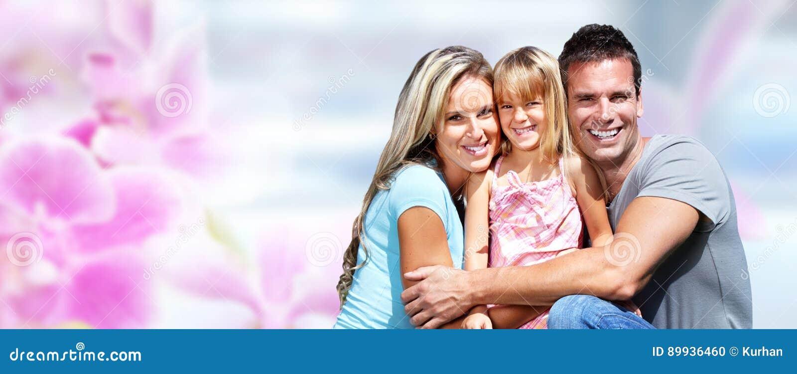 Famiglia felice con il bambino