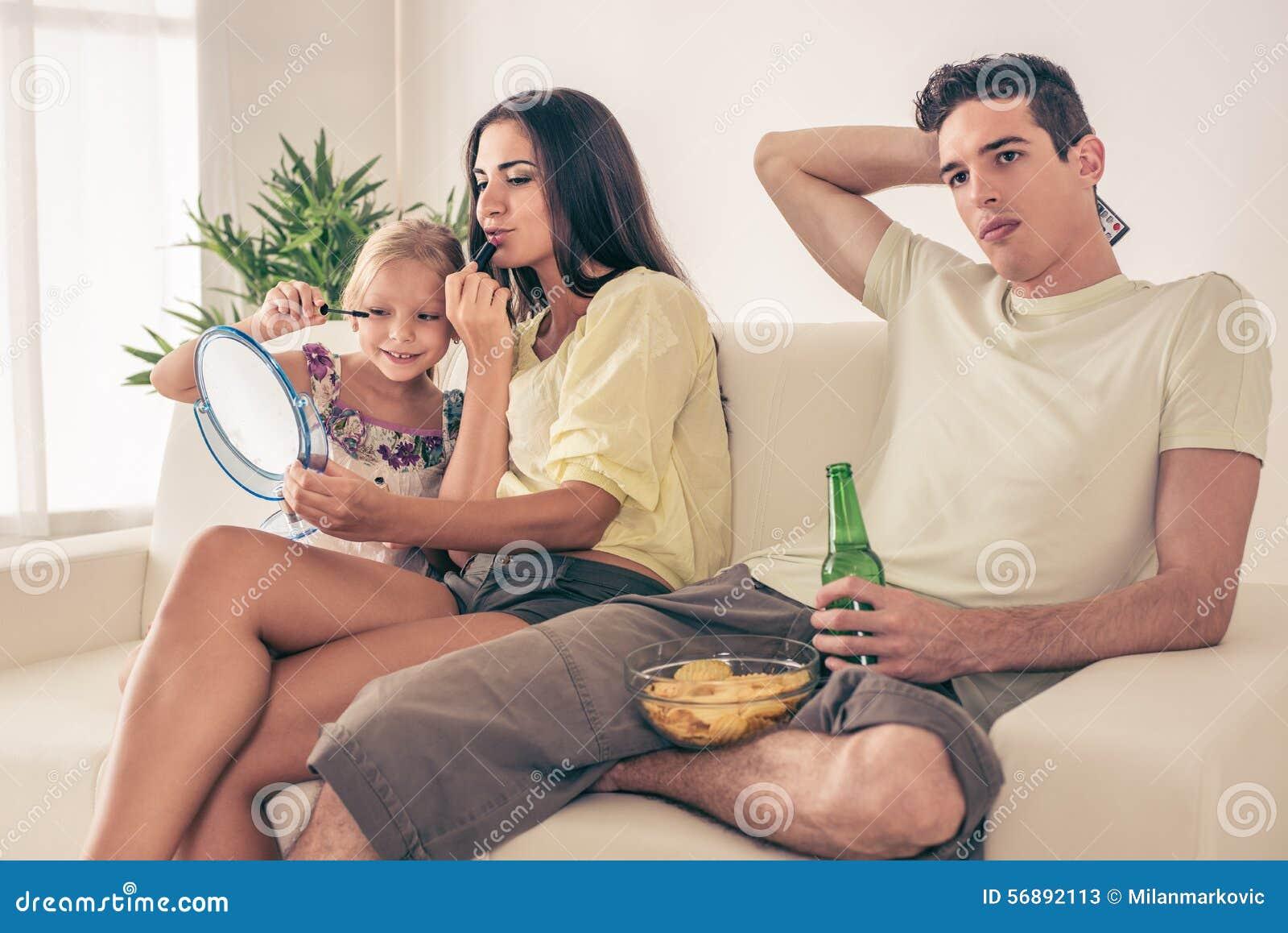 Famiglia nel paese