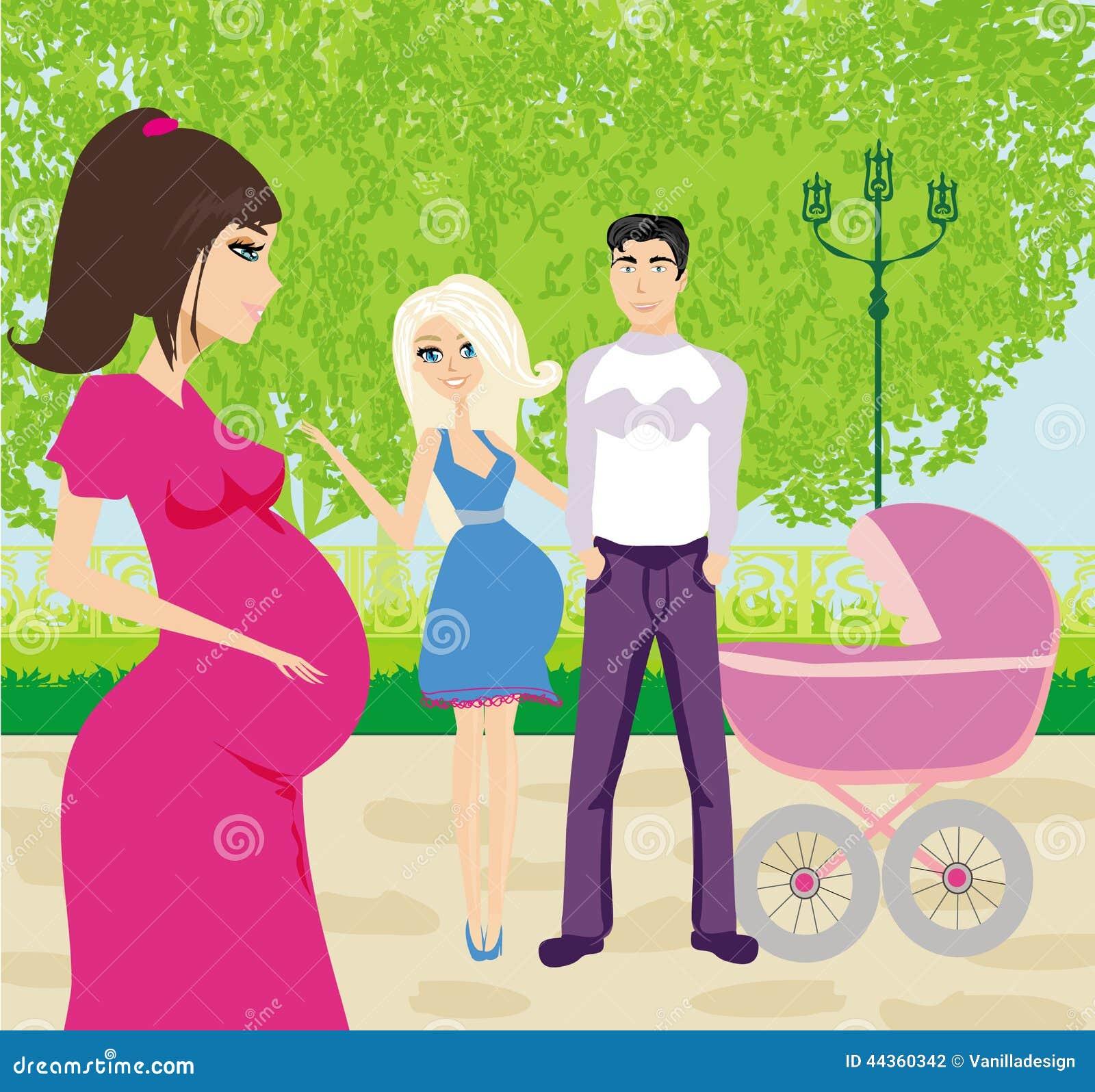 Famiglia per una passeggiata un giorno soleggiato