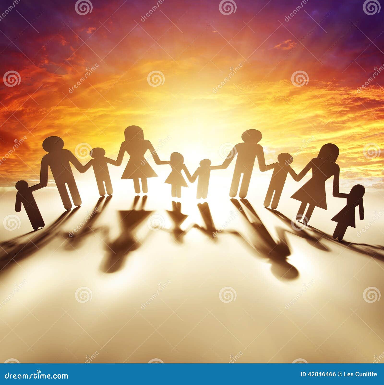 Famiglia Unita Fotografia Stock Immagine Di Cielo Idea 42046466