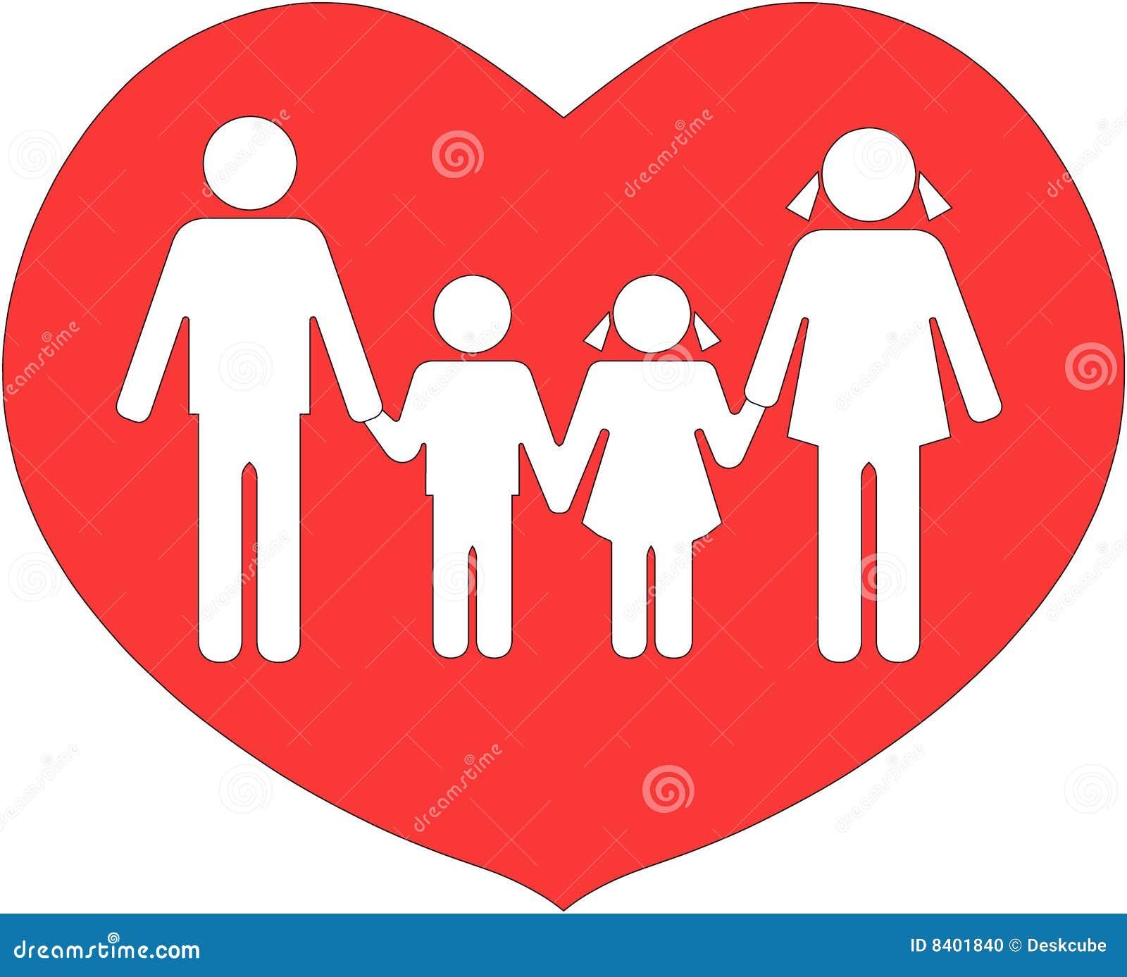 Famiglia Unita Nellamore Illustrazione Di Stock Illustrazione Di