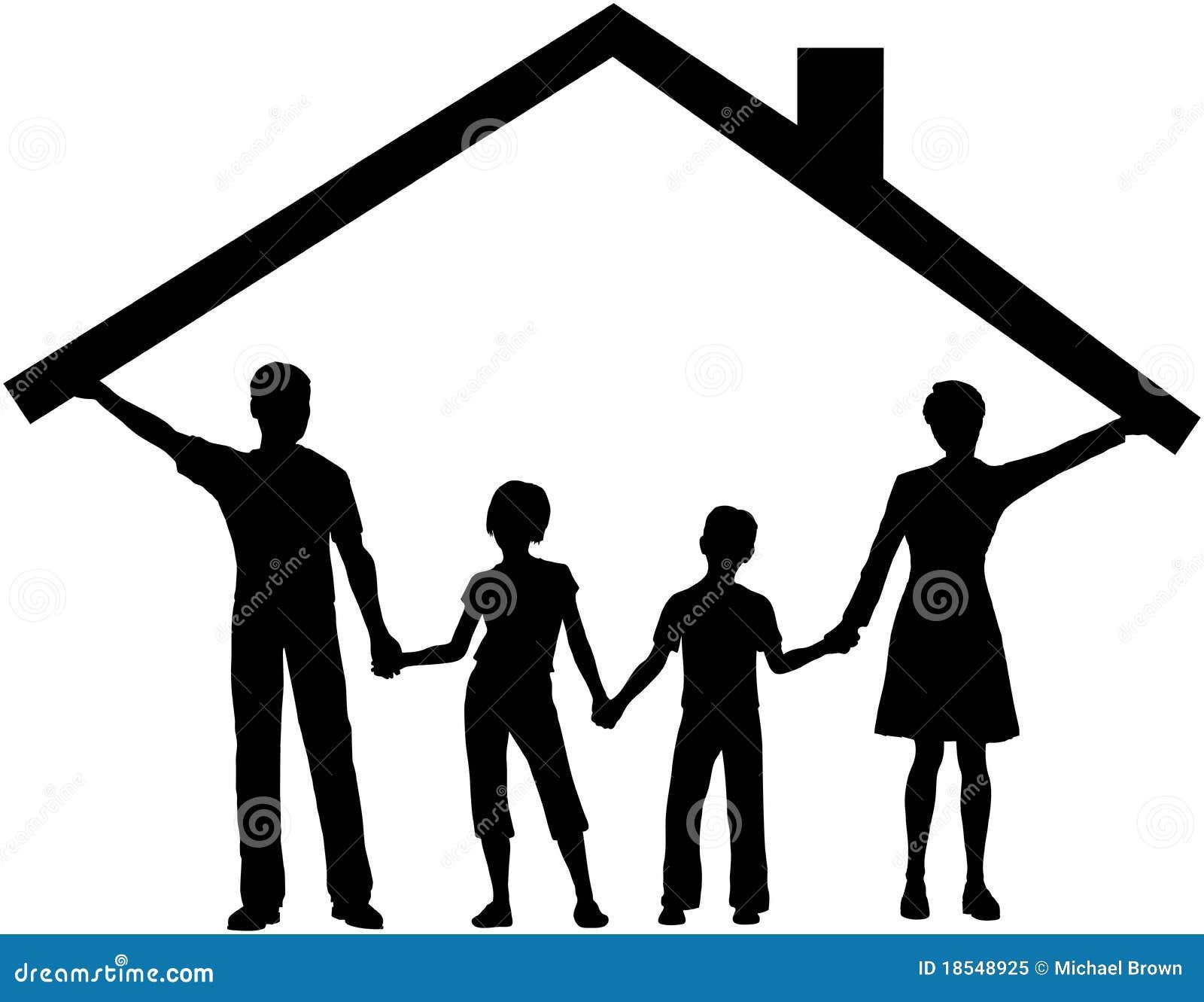 Familia bajo la azotea del hogar del asimiento de casa for La azotea de la casa de granada