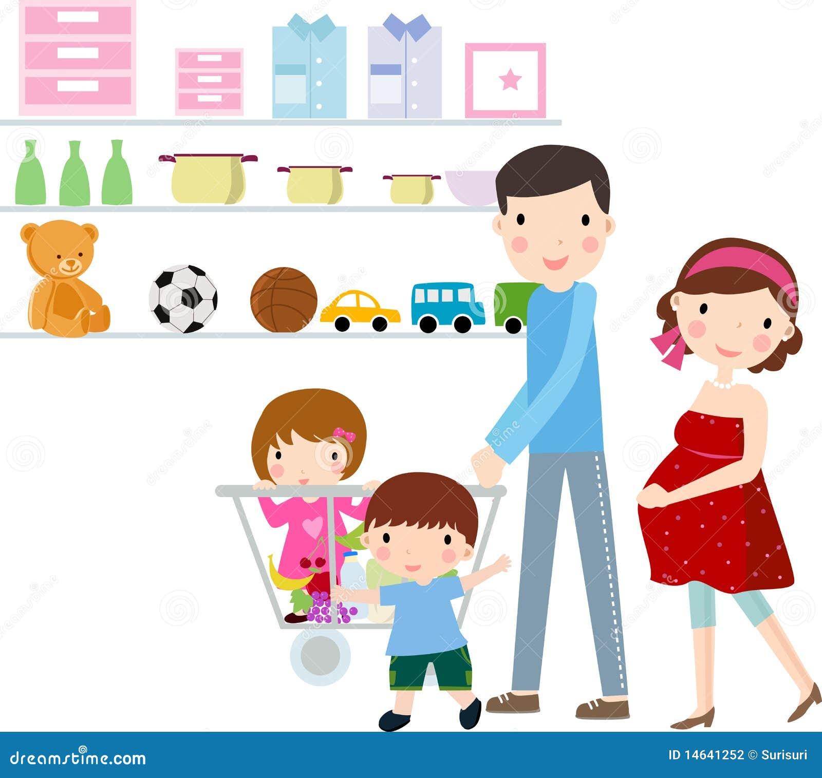 Familia con compras