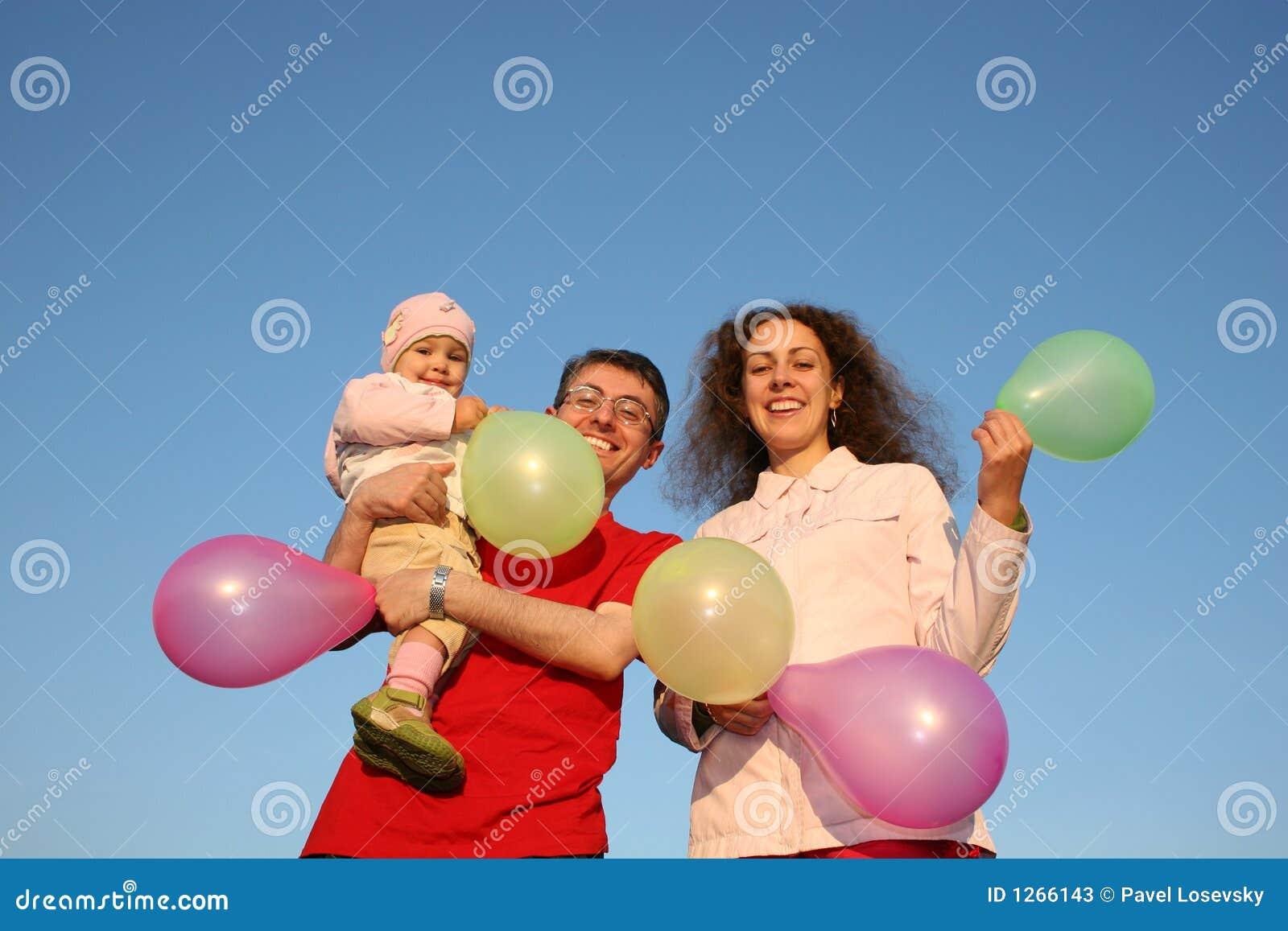 Familia con el bebé