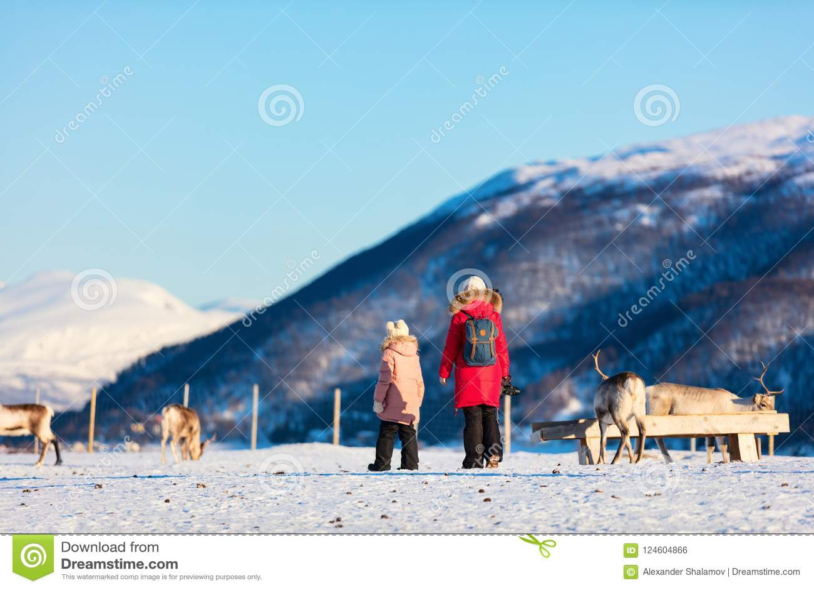 Familia con el reno