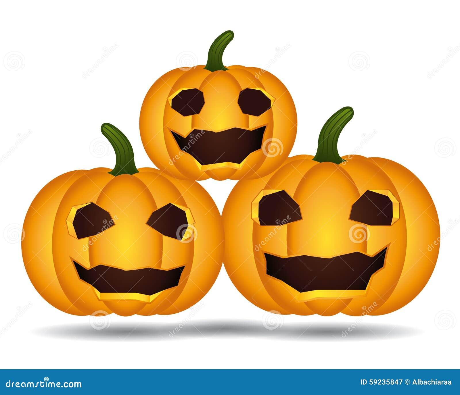 Familia de las calabazas de Halloween