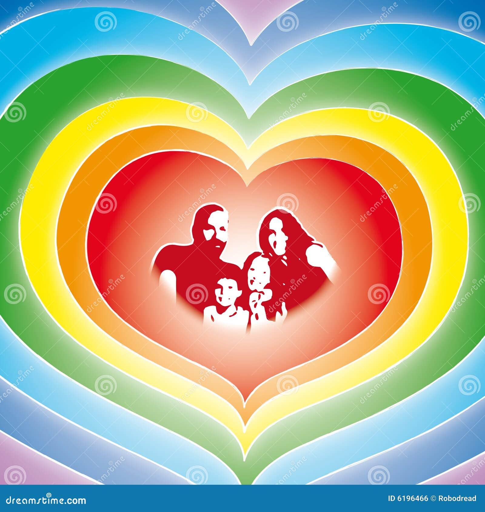 Familia del amor (vector)
