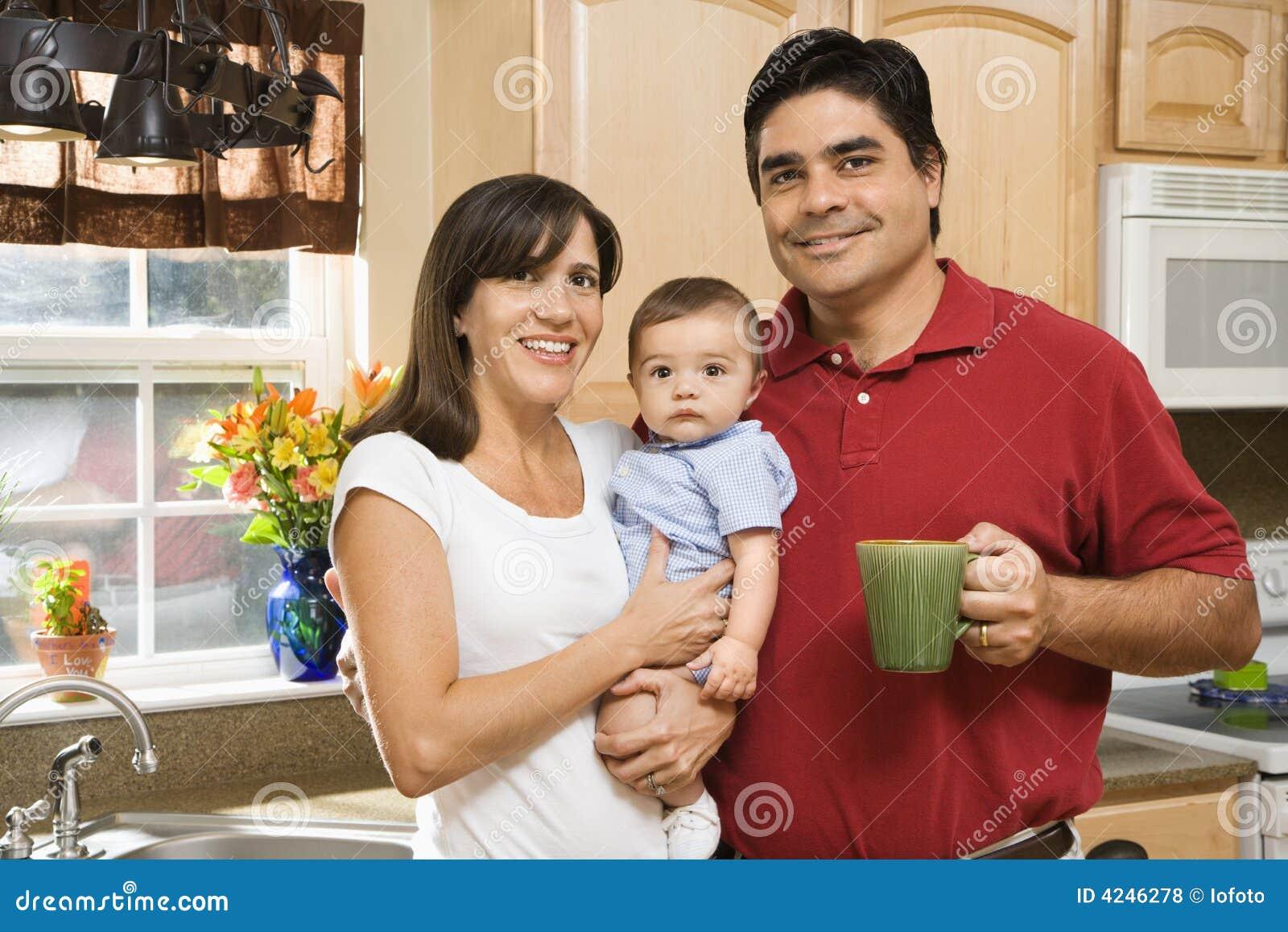 Familia en cocina.