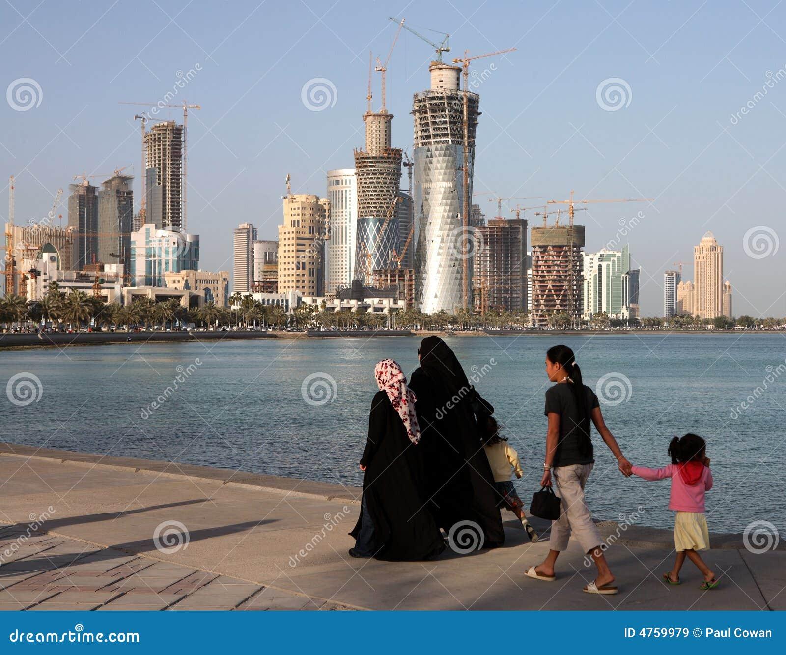 Familia en Doha Corniche