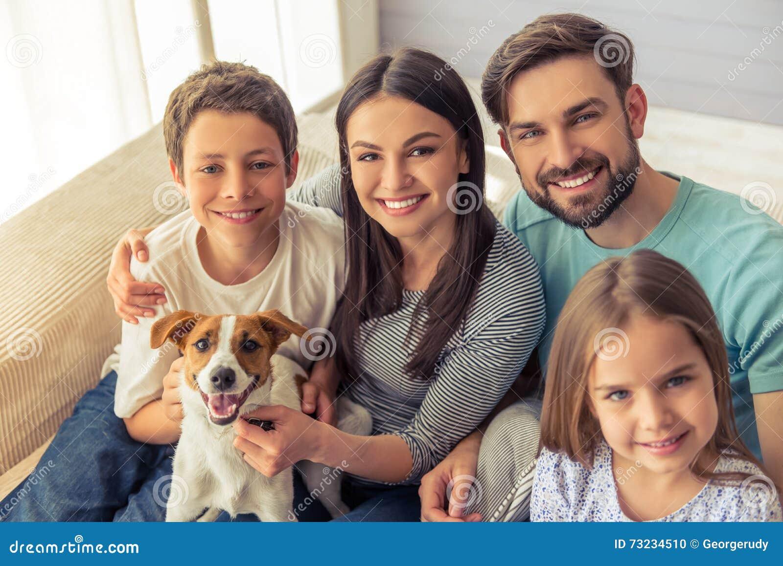 Familia en el país