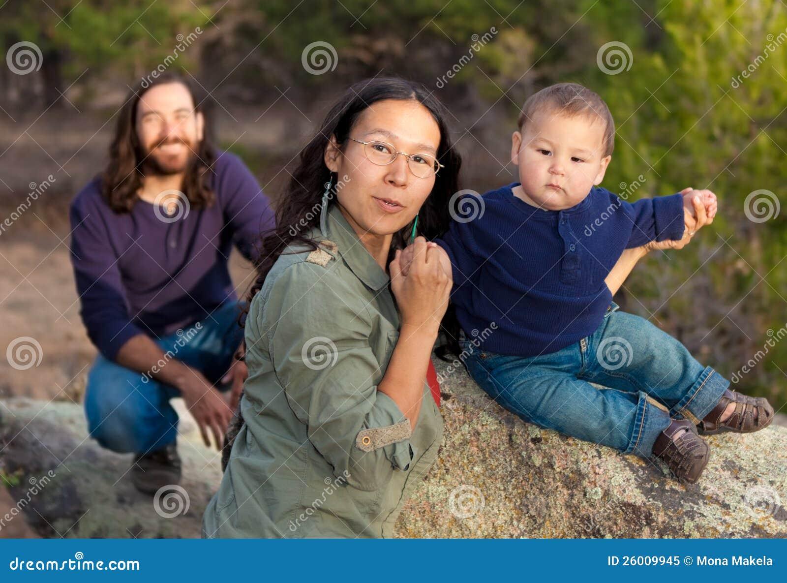 Familia en naturaleza