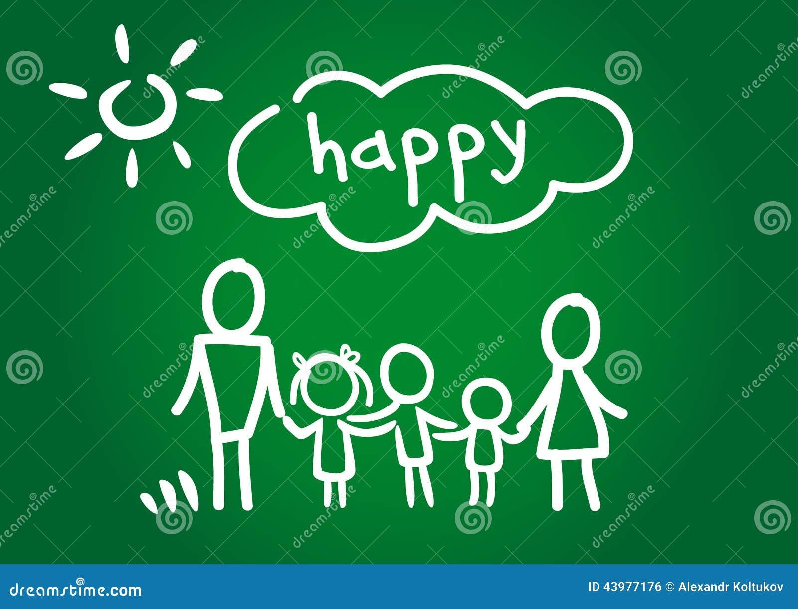 Vector Feliz Viaje Familia: Familia Feliz Ilustración Del Vector