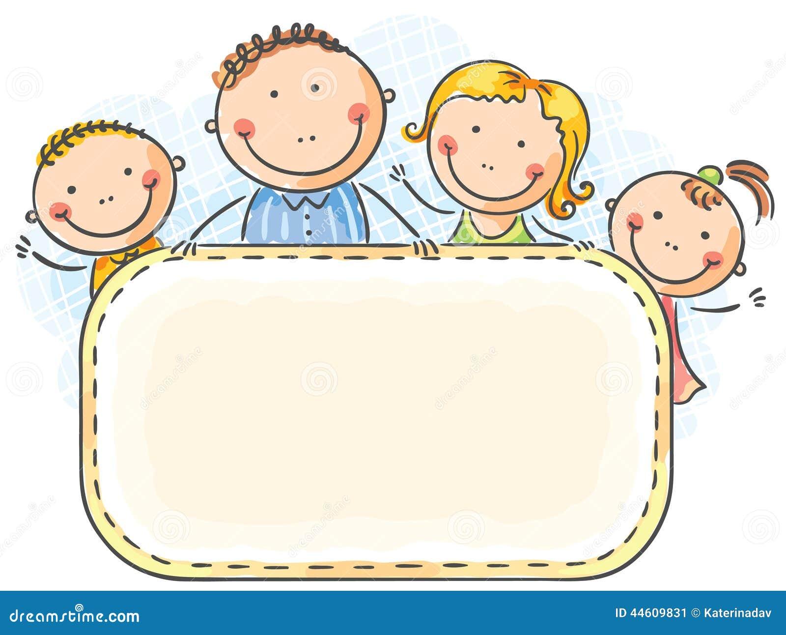 Vector Feliz Viaje Familia: Familia Feliz Con Dos Niños Ilustración Del Vector
