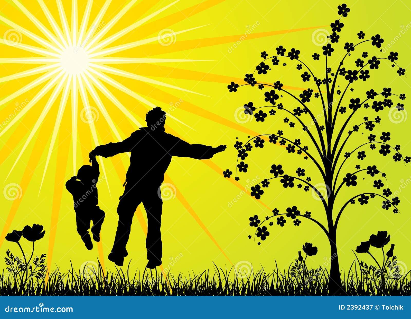 Vector Feliz Viaje Familia: Familia Feliz, Vector Fotografía De Archivo Libre De