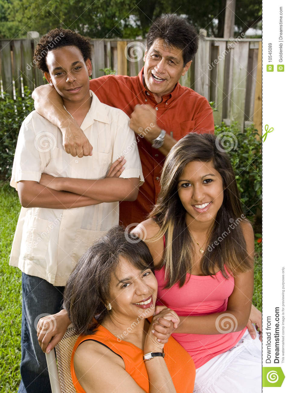 Familia interracial