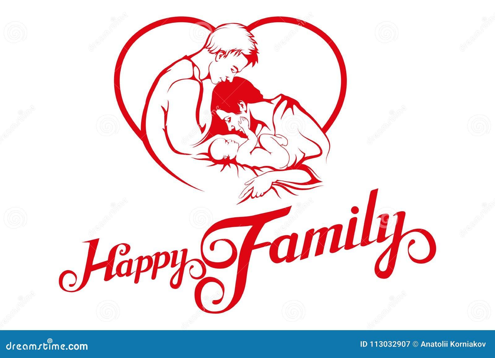 Familia joven feliz Vida familiar idílica