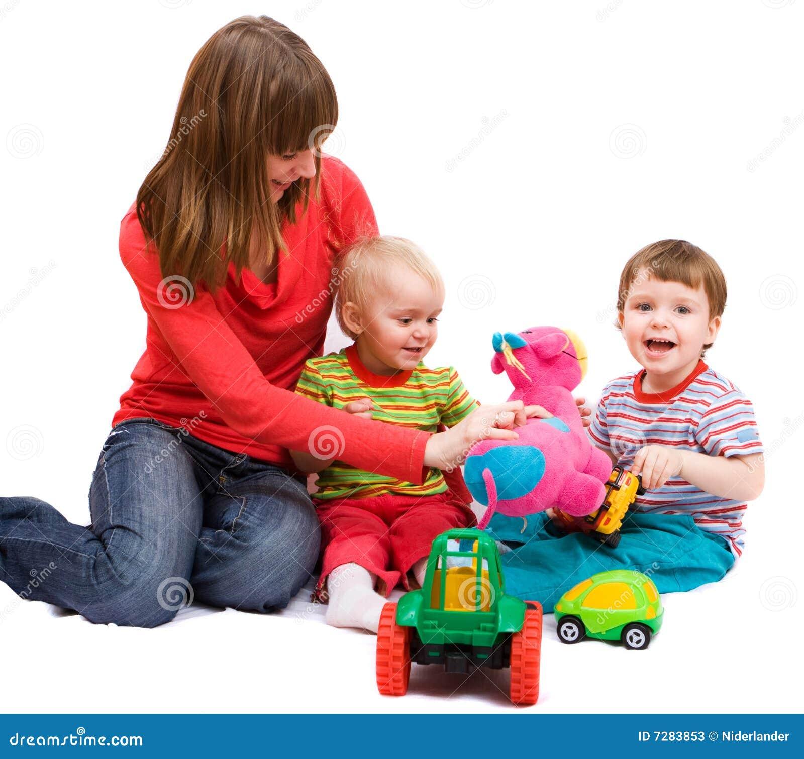 Familia juguetona