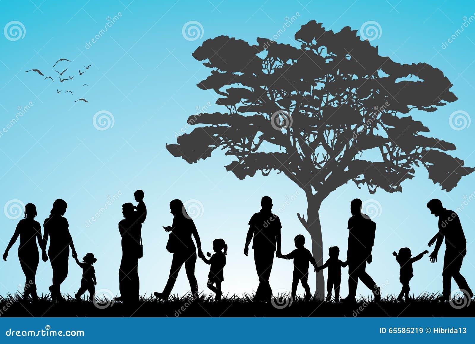 Familias en el parque