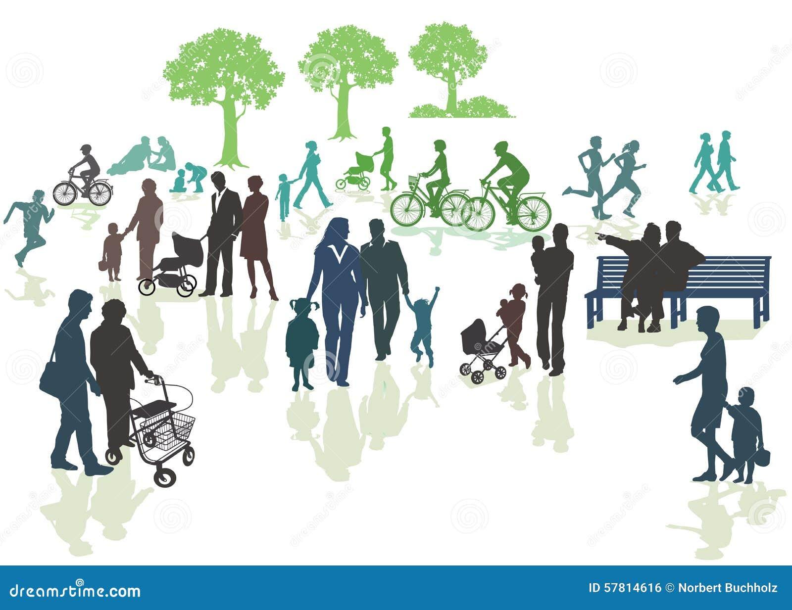 Familias en parque