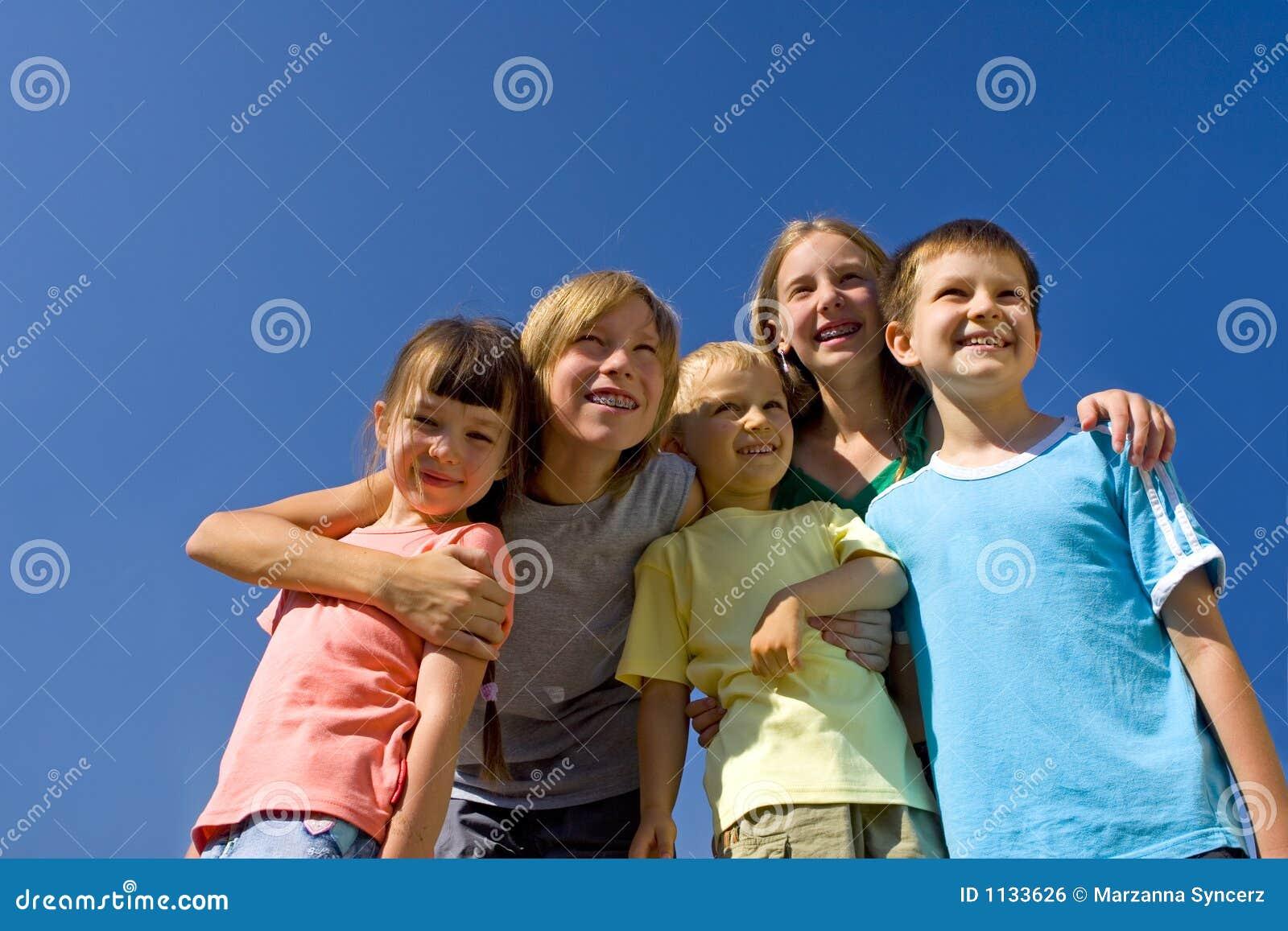 Familie auf Himmel