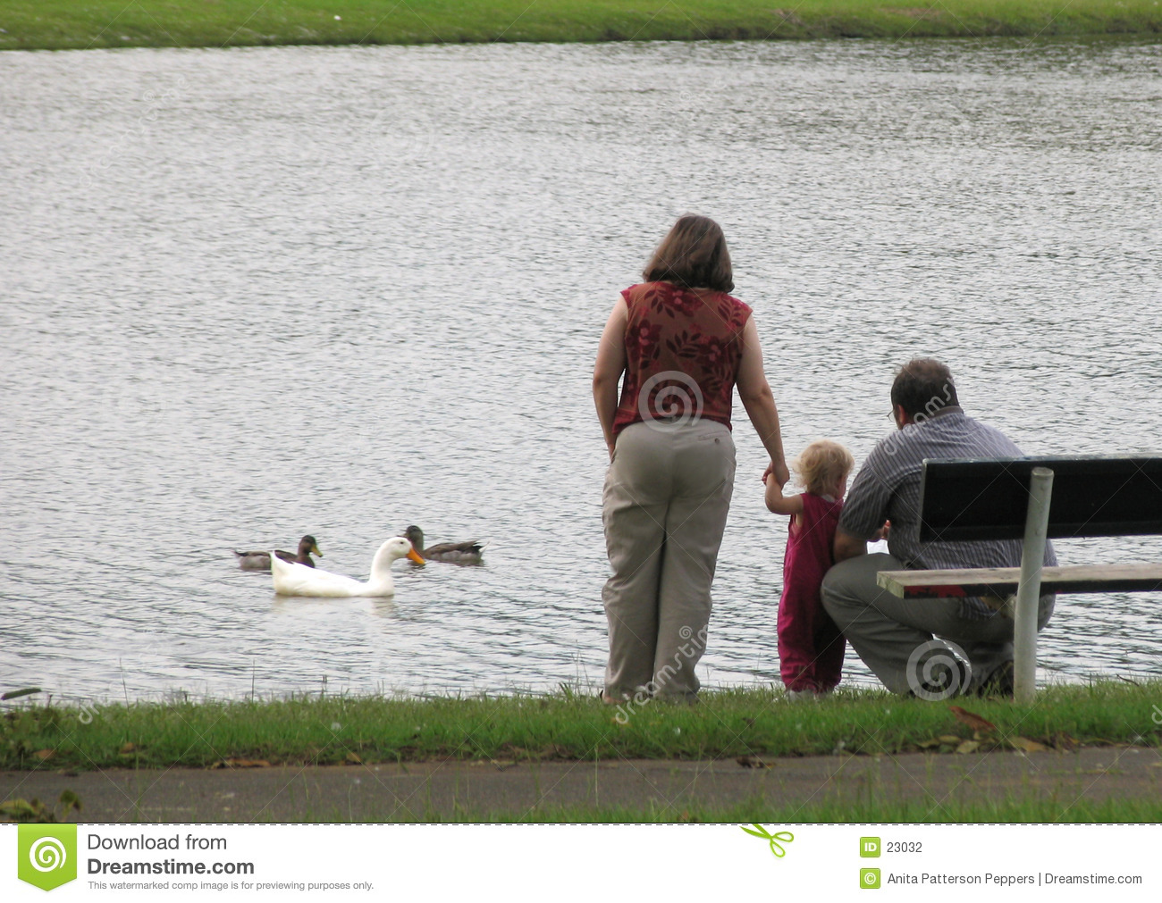 Familie in dem See