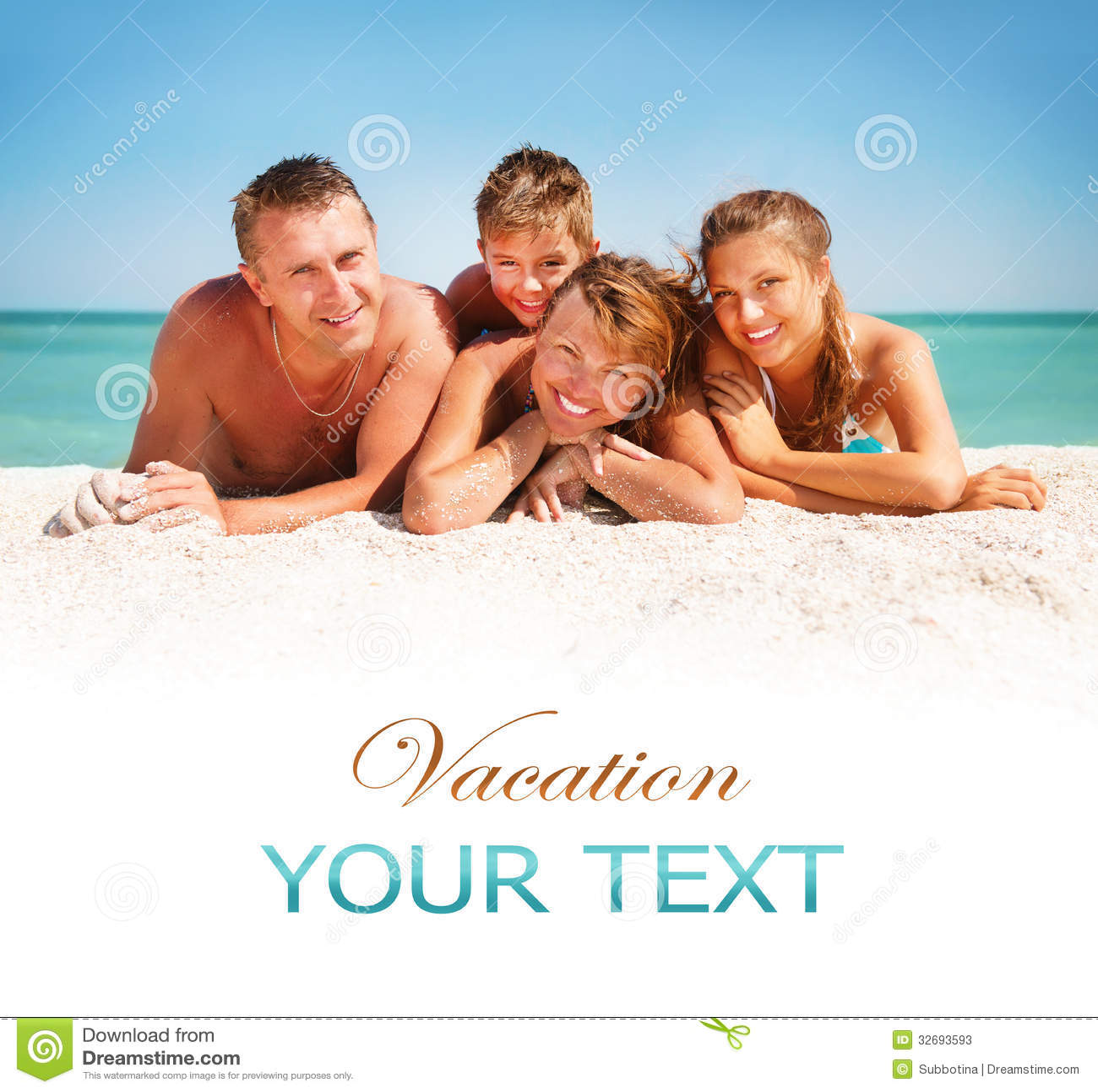 Familie die Pret hebben bij het Strand