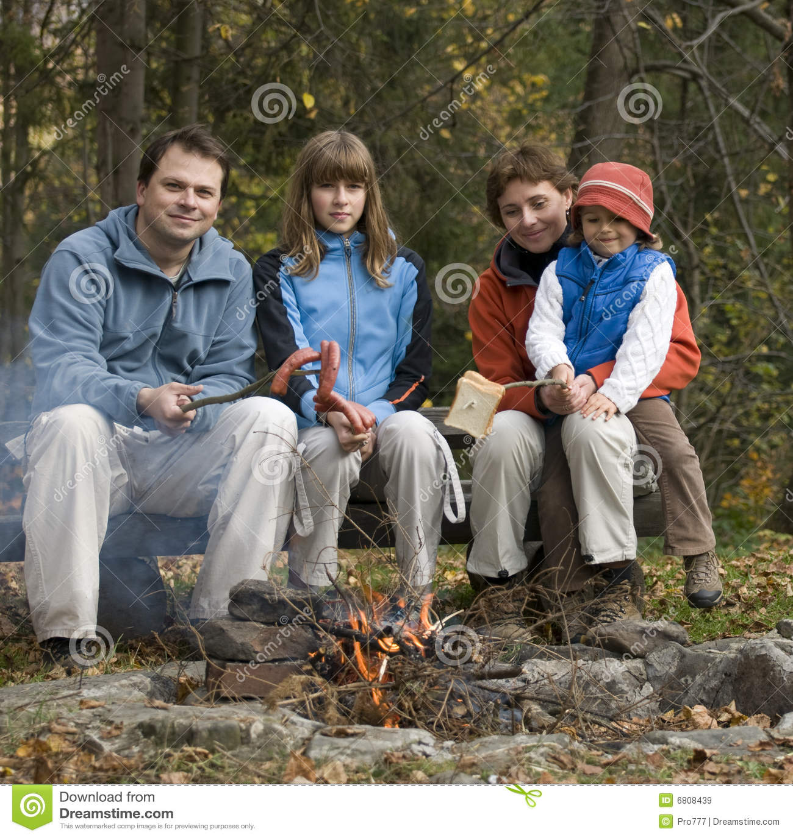 Familie in kamp