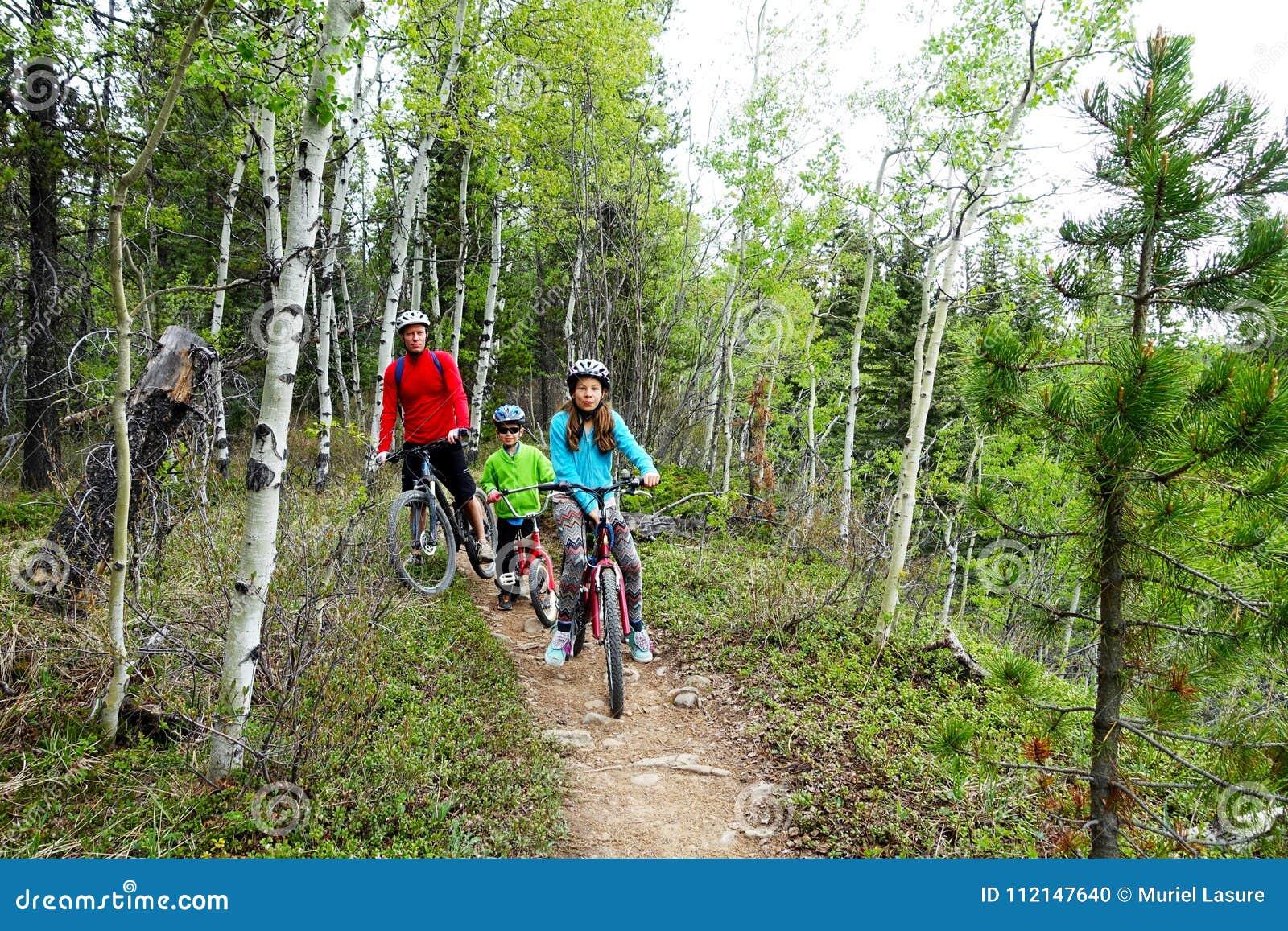 Familie mountainbike Reise