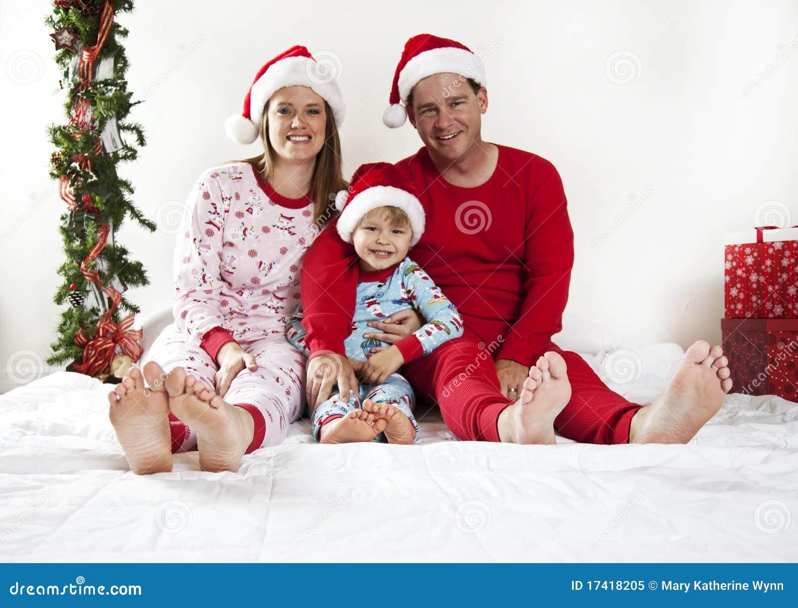 Familie op Kerstmis