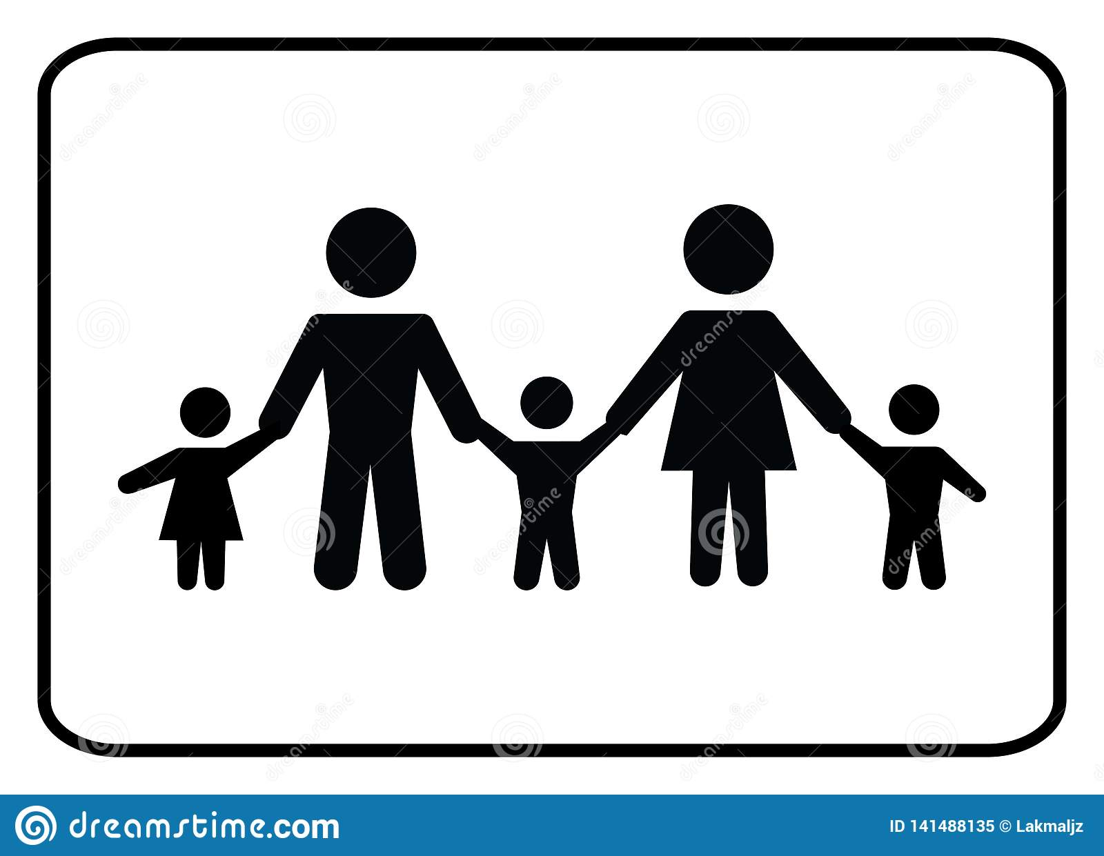 Familie pictogram-vector
