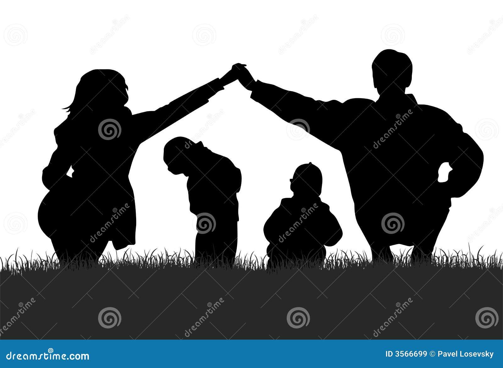 Familie silhouet